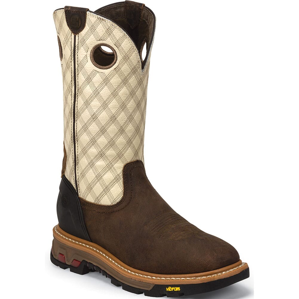 Image for Justin Original Men's Roughneck Work Boots - Bone/Tan from bootbay