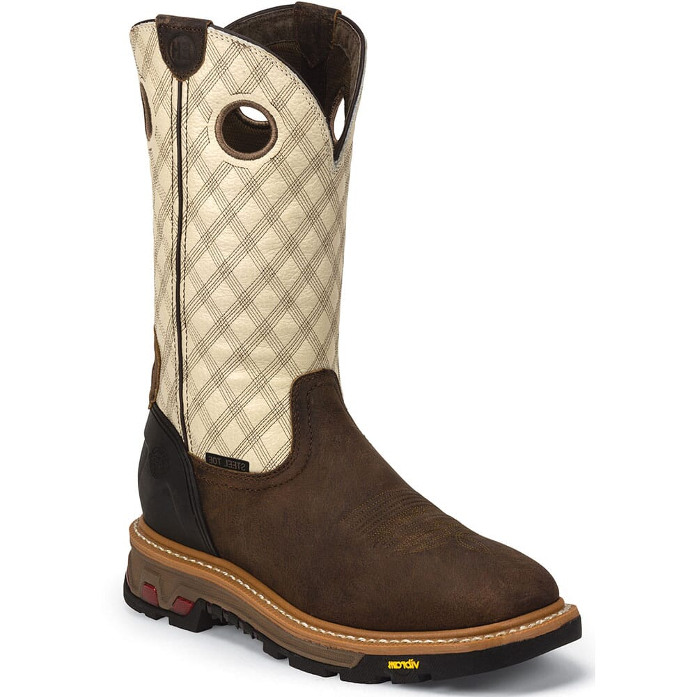 Image for Justin Original Men's Roughneck Safety Boots - Bone/Tan from bootbay