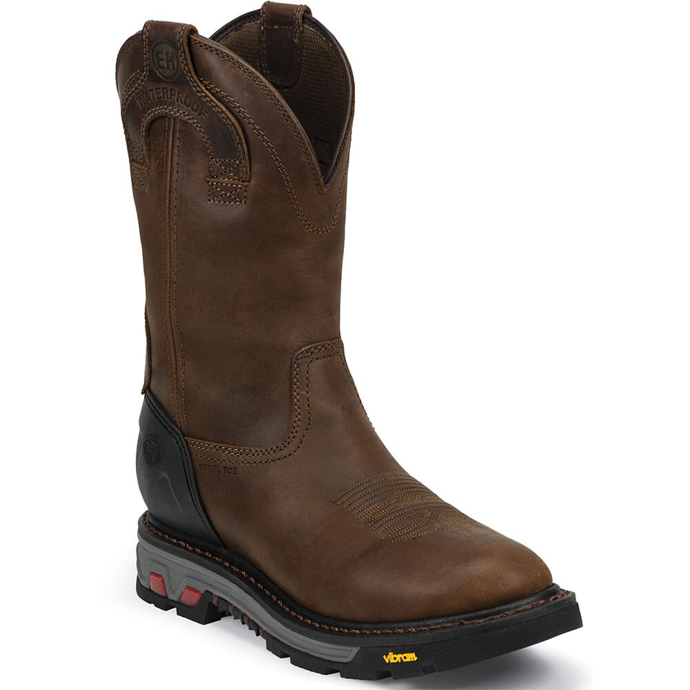 Image for Justin Original Men's Mechanic Safety Boots - Brown from bootbay