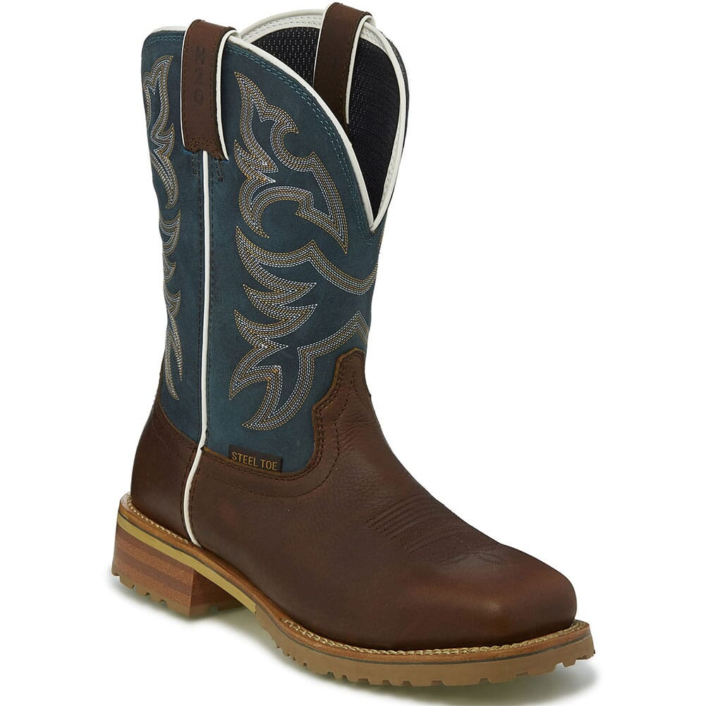 Image for Justin Original Men's Marshal Safety Boots - Reef Blue from bootbay