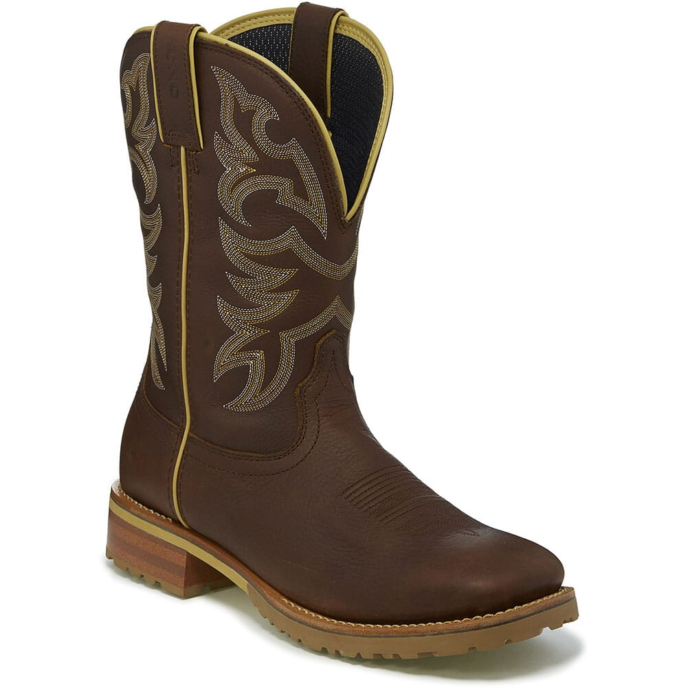 Image for Justin Original Men's Marshal Whiskey WP Work Boots - Neat Brown from bootbay