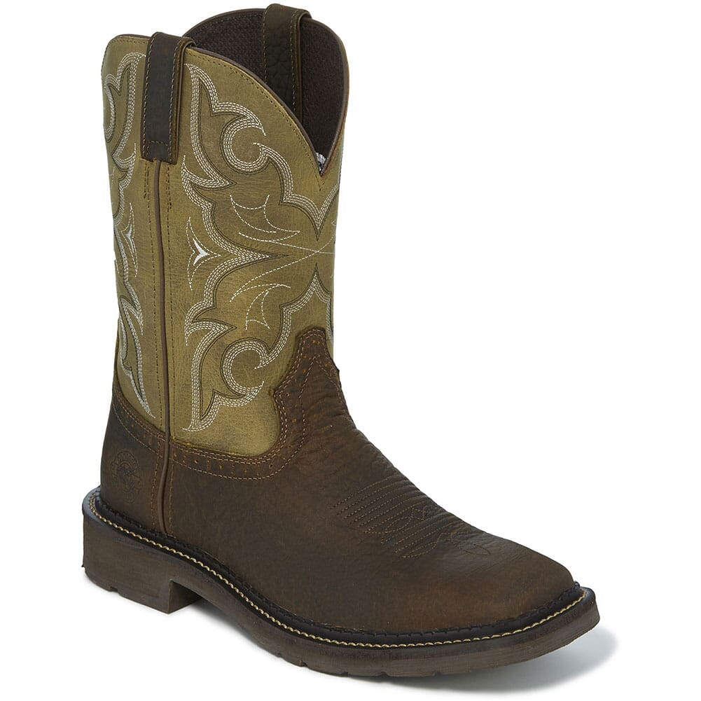 Image for Justin Original Men's Amarillo Work Boots - Cactus from bootbay