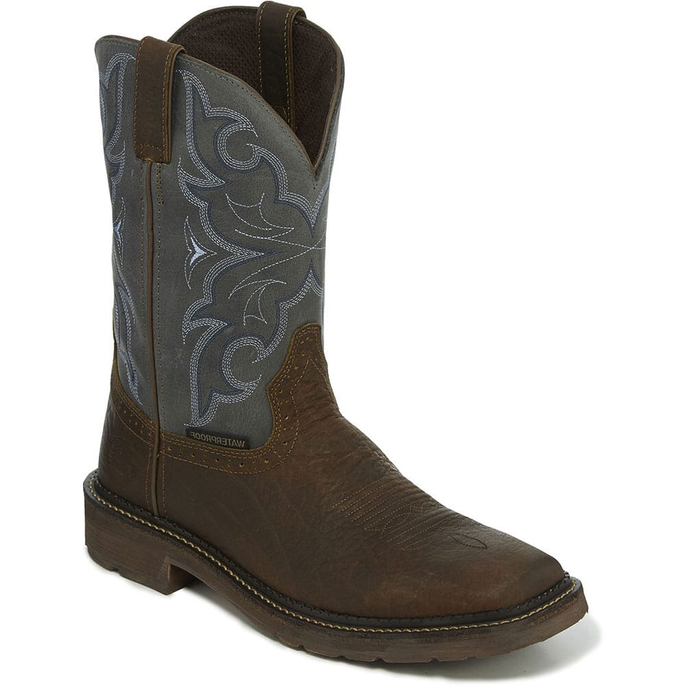 Image for Justin Original Men's Amarillo WP Work Boots - Slate from bootbay