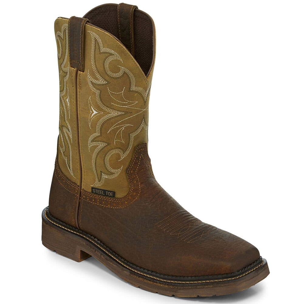 Image for Justin Original Men's Amarillo Safety Boots - Cactus from bootbay
