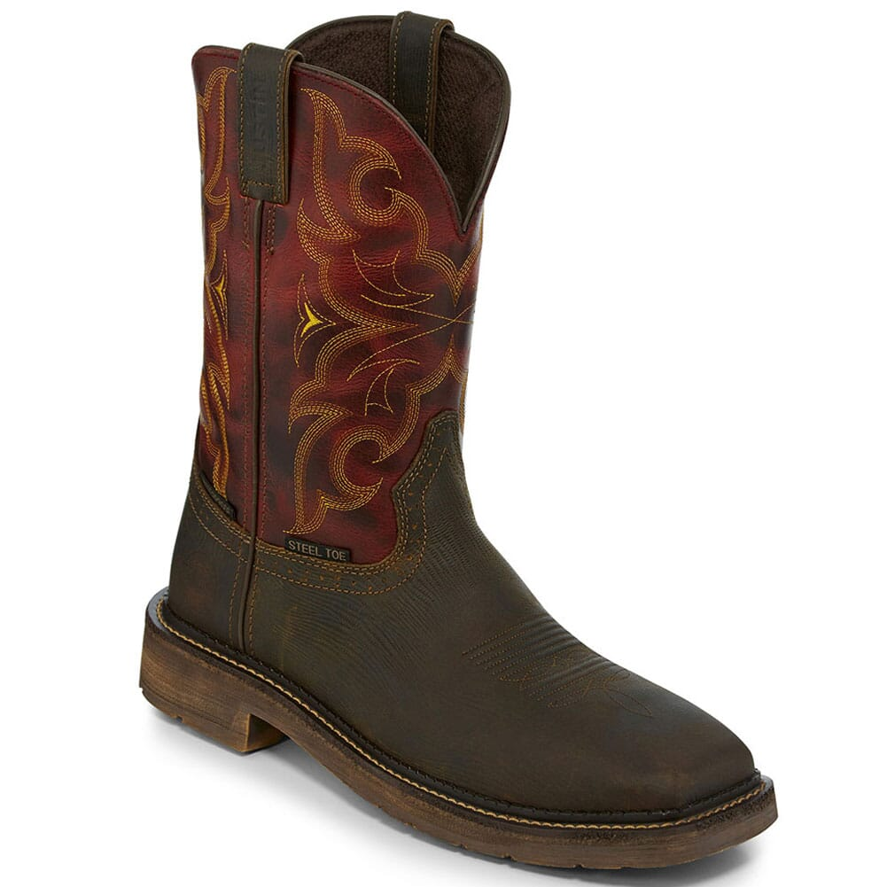 Image for Justin Original Men's Amarillo WP Safety Boots - Oxblood from bootbay