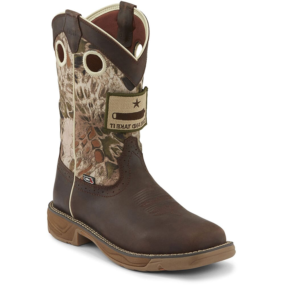 Image for Justin Original Men's Stampede Rush Work Boots - Grizzly Brown from bootbay