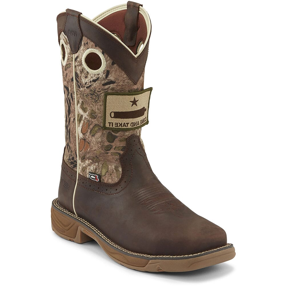 Image for Justin Original Men's Stampede Rush Safety Boots - Grizzly Brown from bootbay