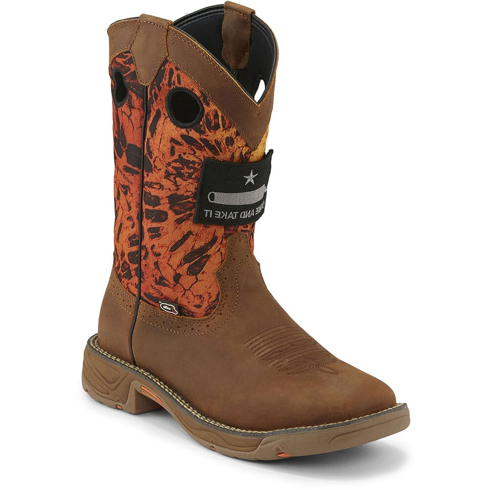 Image for Justin Original Men's Stampede Rush Work Boots - Rustic Tan from bootbay