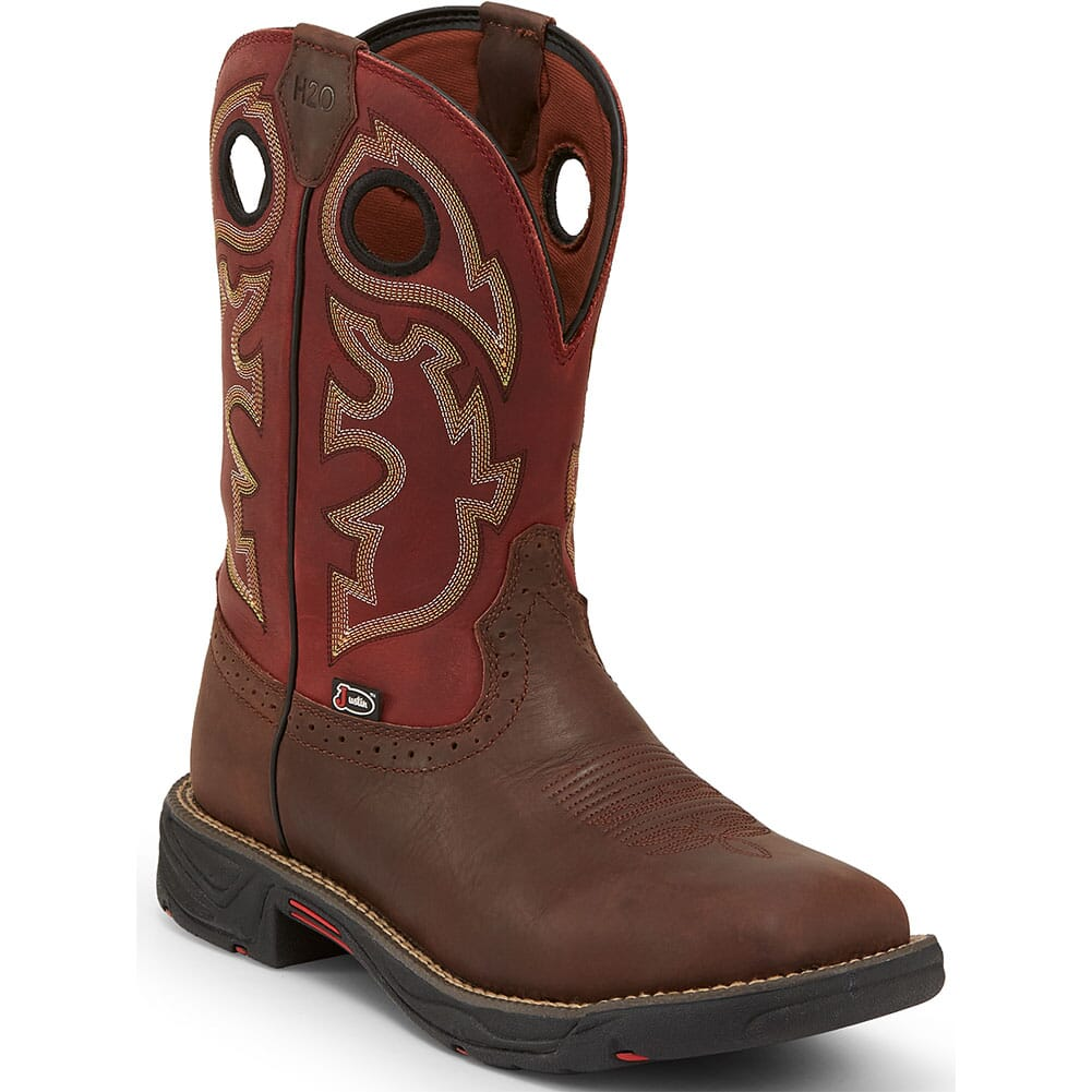 Image for Justin Original Men's Stampede Rush Work Boots - Fiesta/Grizzly Brown from bootbay