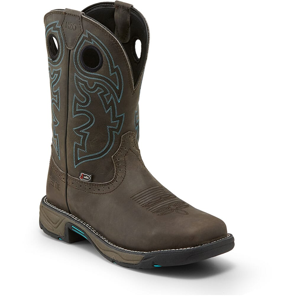 Image for Justin Original Men's Stampede Rush Work Boots - Magnetic Steel from bootbay