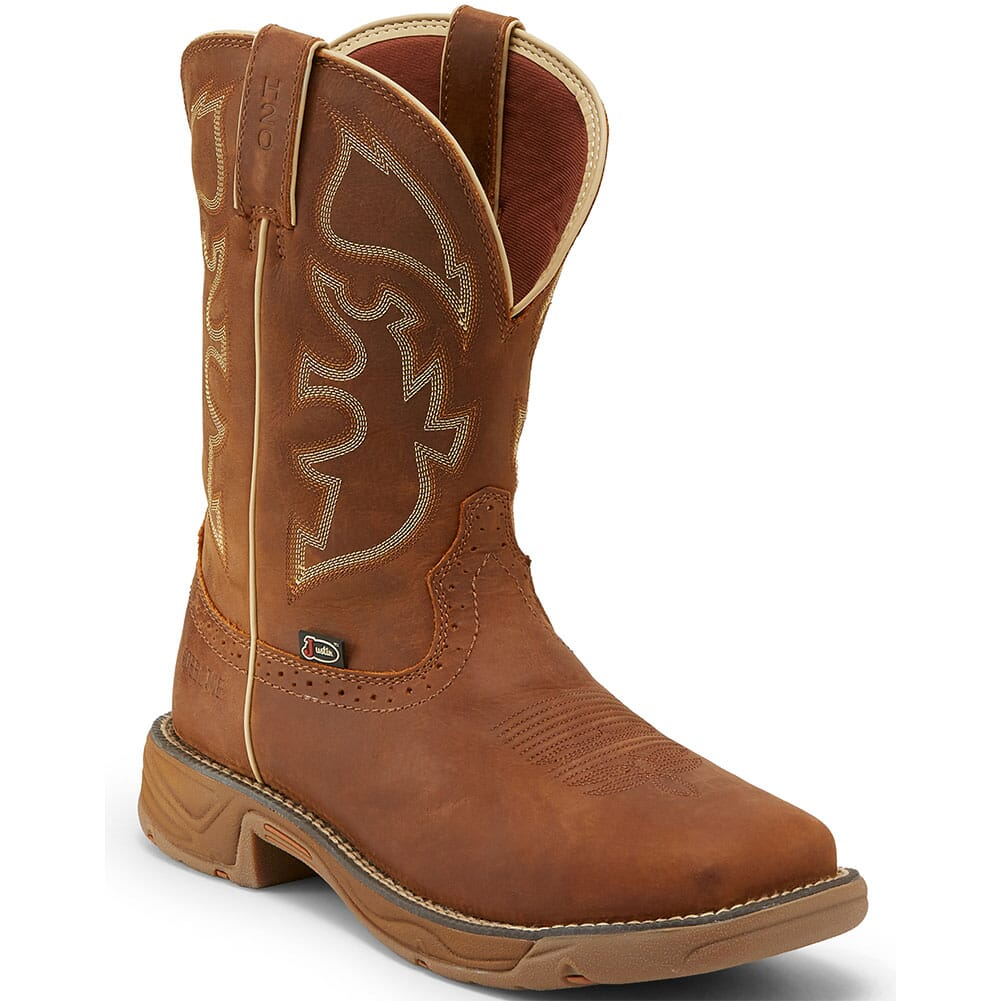 Image for Justin Original Men's Stampede Rush WP Safety Boots - Rustic Tan from bootbay