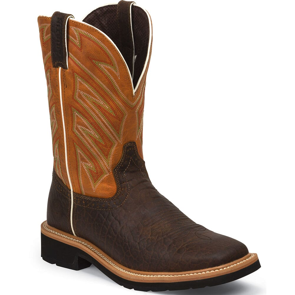 Image for Justin Men's Electrician Work Boots - Dark Chestnut from bootbay