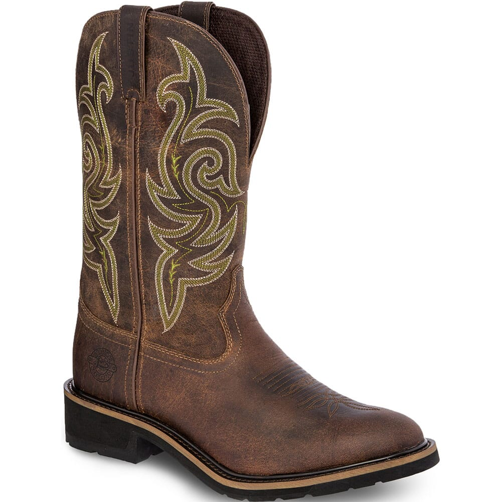 Image for Justin Original Men's Teague Work Boots - Dark Brown from bootbay