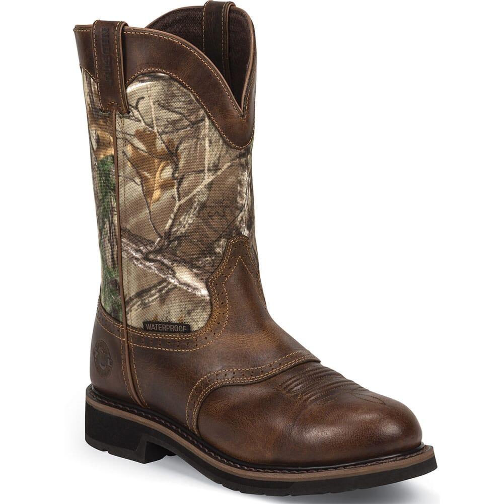 Image for Justin Original Men's Trekker Work Boots - Brown/Camo from bootbay