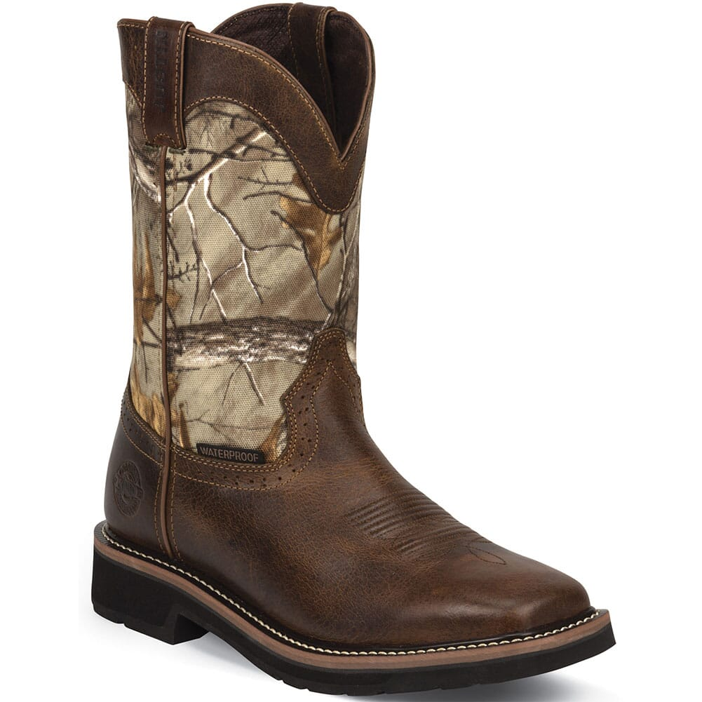 Image for Justin Original Men's WP Tan Work Boots - Camo from bootbay