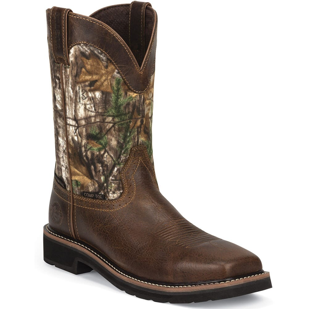 Image for Justin Men's Stampede WP Safety Boots - Rugged Tan from bootbay