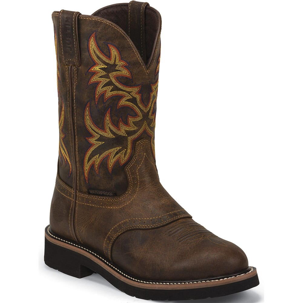 Image for Justin Original Men's Installer Work Boots -  Rugged Tan from bootbay