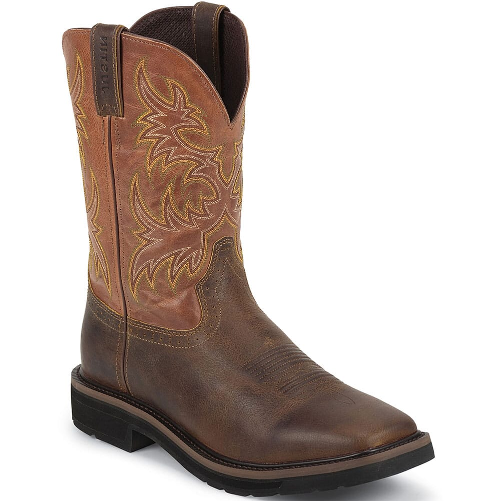 Image for Justin Original Men's America Work Boots - Tan from bootbay