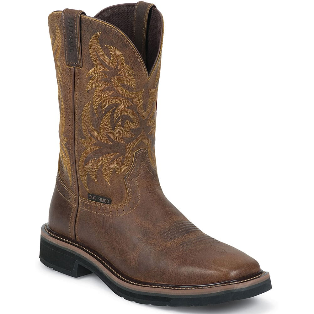 Image for Justin Original Men's Handler Safety Boots - Tan from bootbay