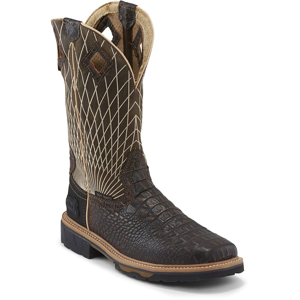 Image for Justin Original Men's Derrickman Safety Boots - Chocolate from bootbay