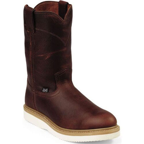 Image for Justin Original Men's Wedge Work Boots - Brown from bootbay