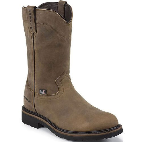 Image for Justin Original Men's 10IN WP Safety Boots - Brown from bootbay