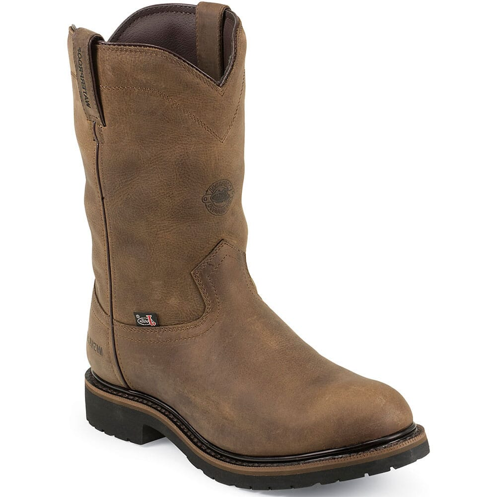 Image for Justin Original Men's Drywall Safety Boots - Wyoming Brown from bootbay