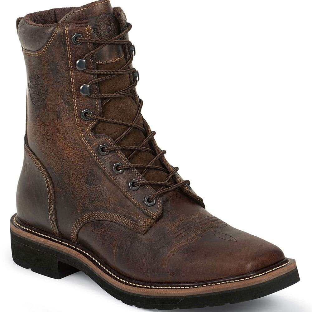 Image for Justin Original Men's Pulley Work Boots - Tan from bootbay