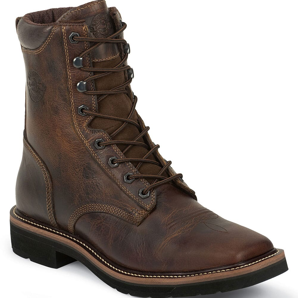 Image for Justin Original Men's 8IN Safety Boots - Tan from bootbay