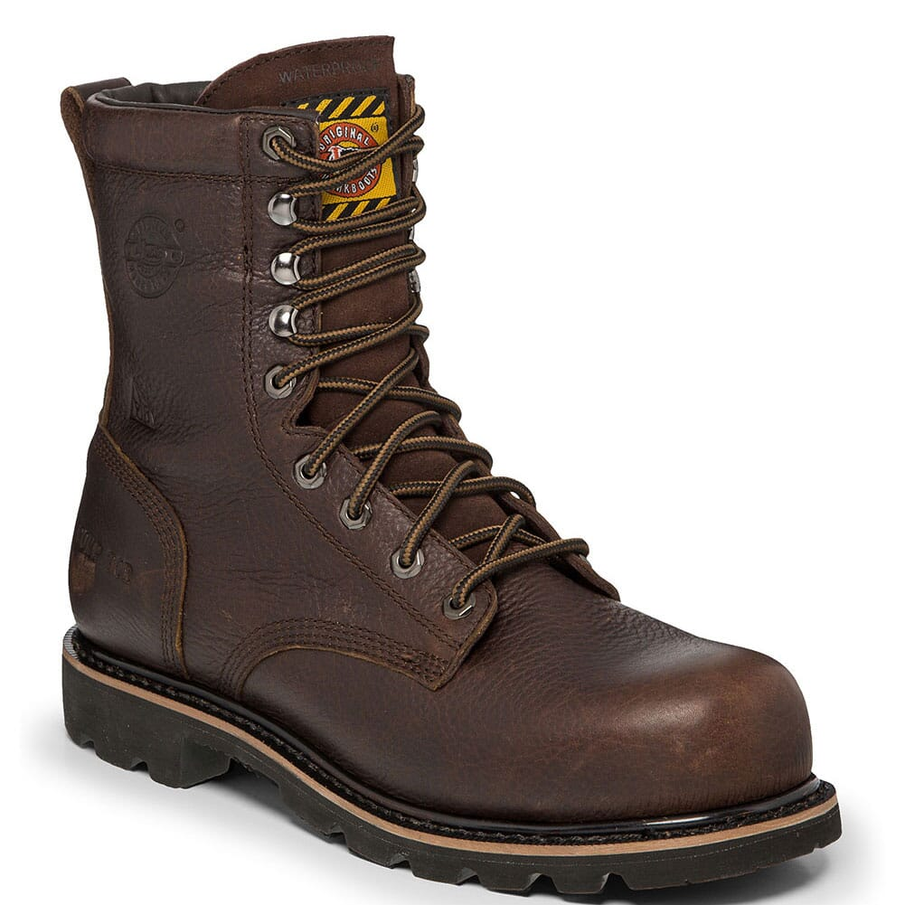 Image for Justin Original Men's Miner Safety Boots - Bark Brown from bootbay
