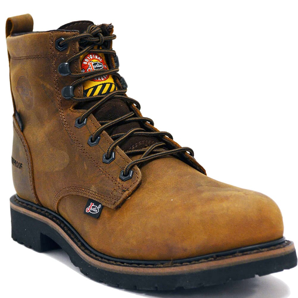 Image for Justin Original Men's Drywall WP Safety Boots - Brown from bootbay
