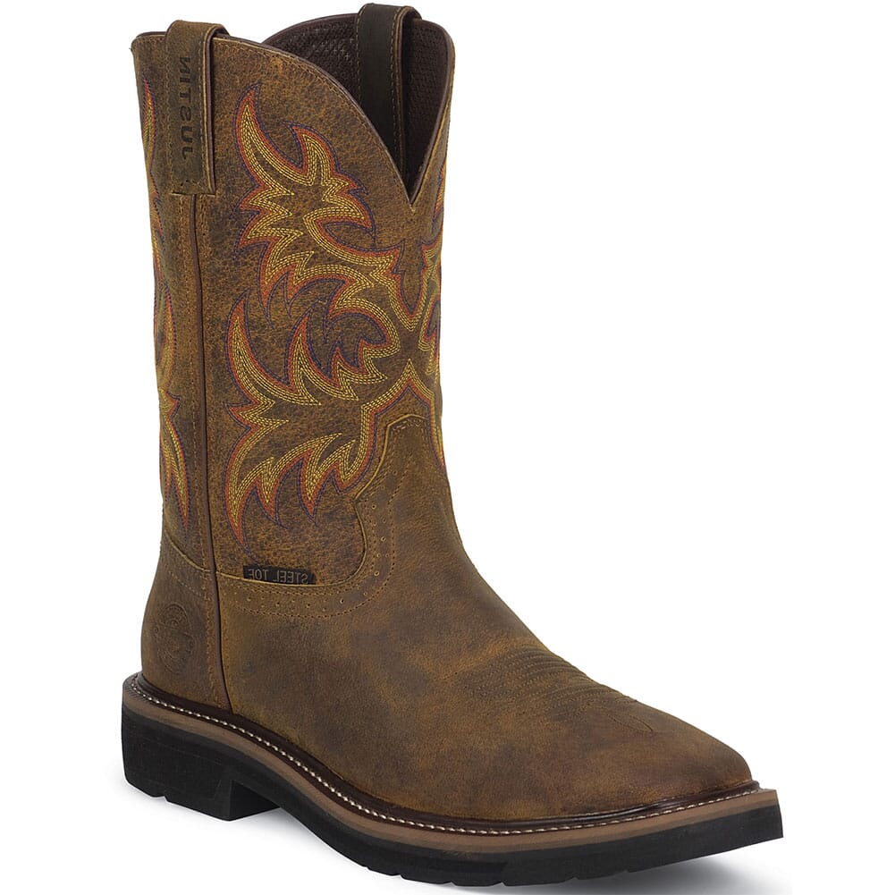 Image for Justin Original Women's Stampede Safety Boots - Tan from bootbay