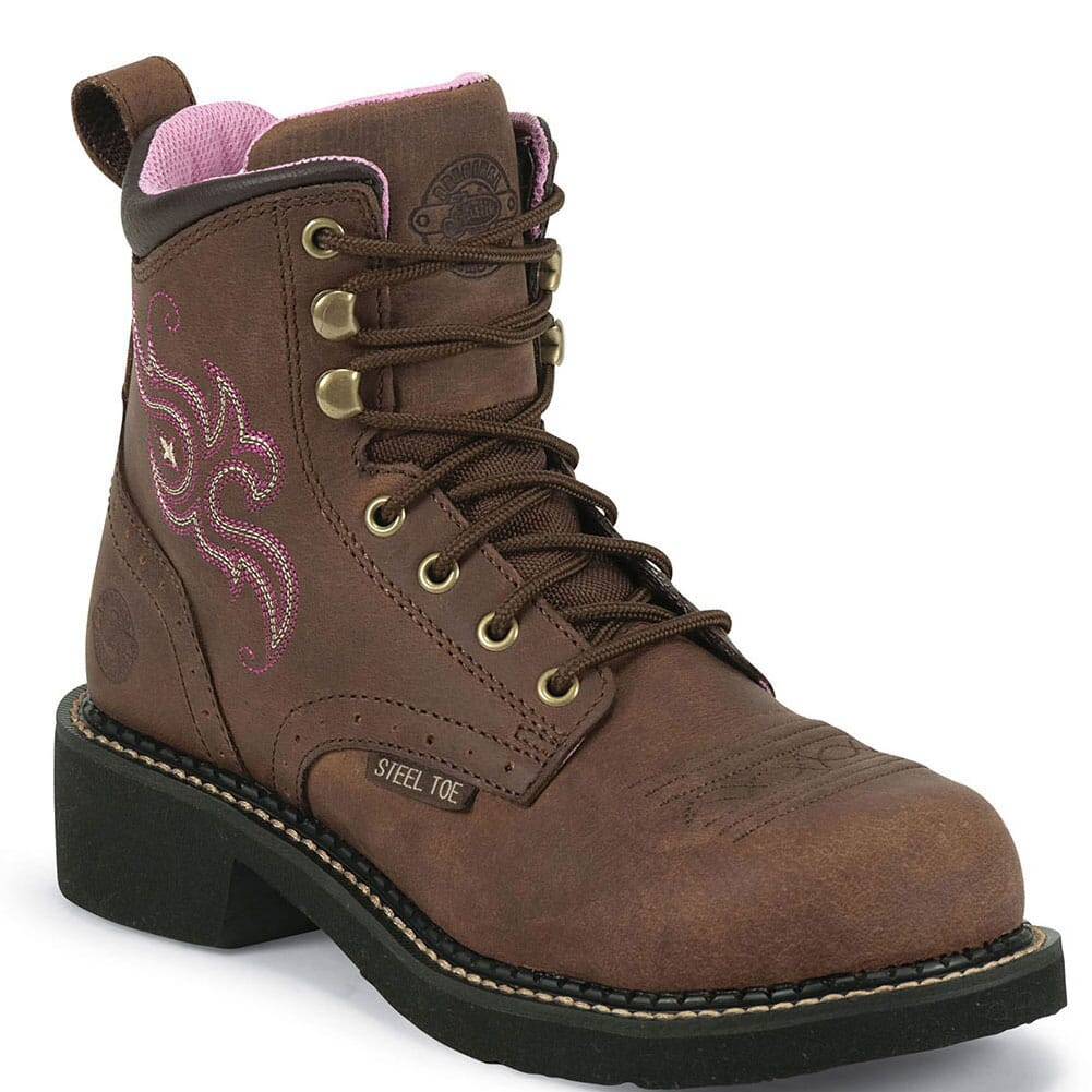Image for Justin Original Women's Katerina Gypsy Safety Boots - Aged Bark from elliottsboots