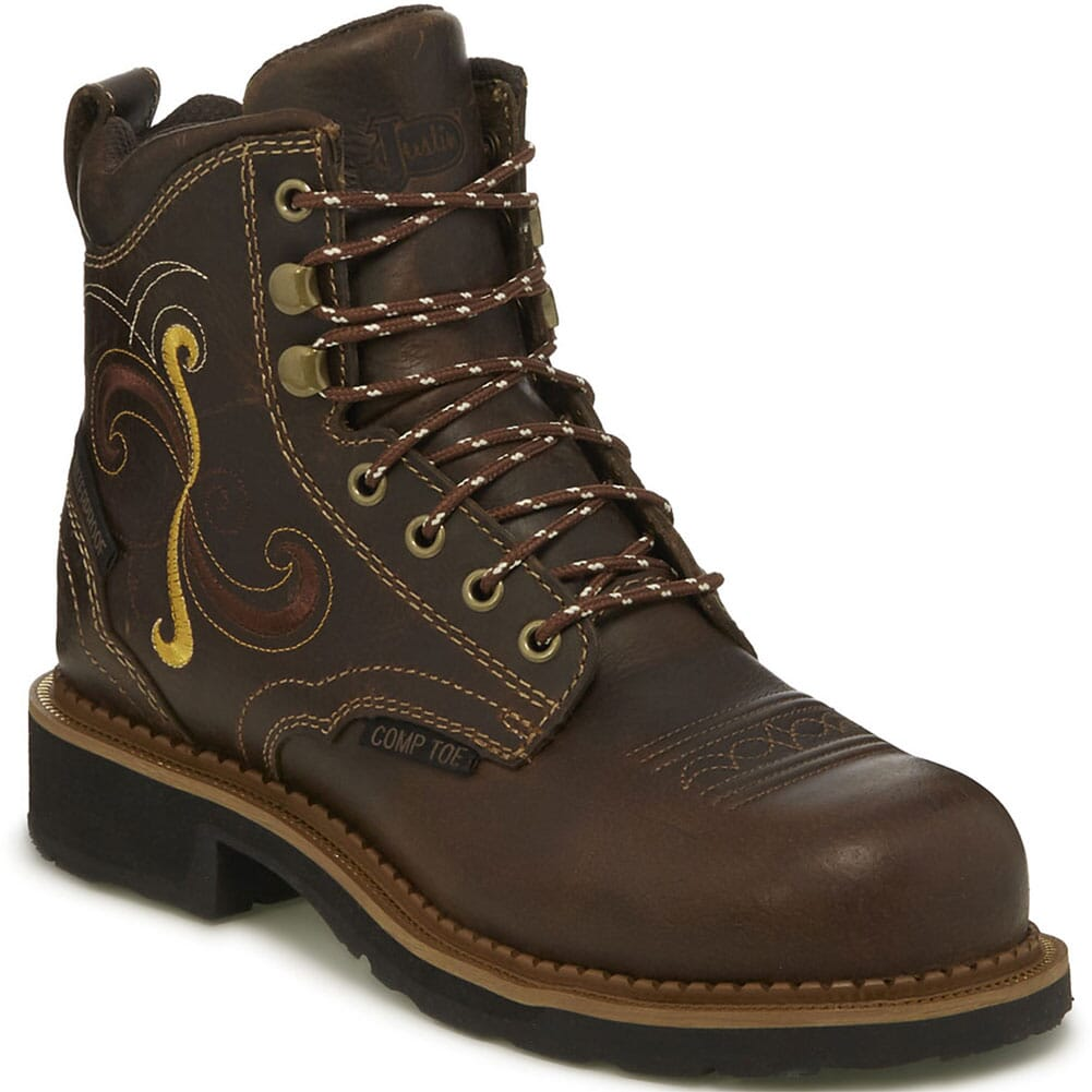 Image for Justin Original Women's Deanne WP Safety Boots - Maple Tan from bootbay
