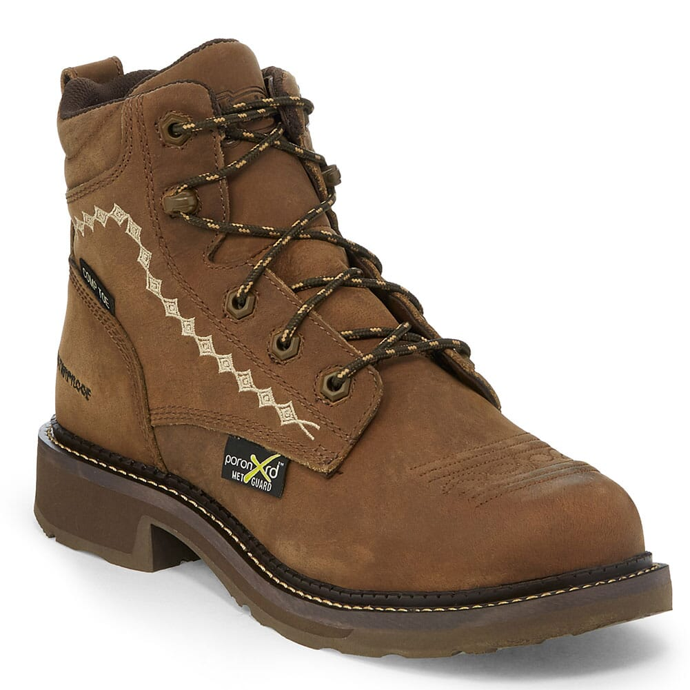 Image for Justin Original Women's Lanie Safety Boots - Wyoming Peanut Buffalo from elliottsboots