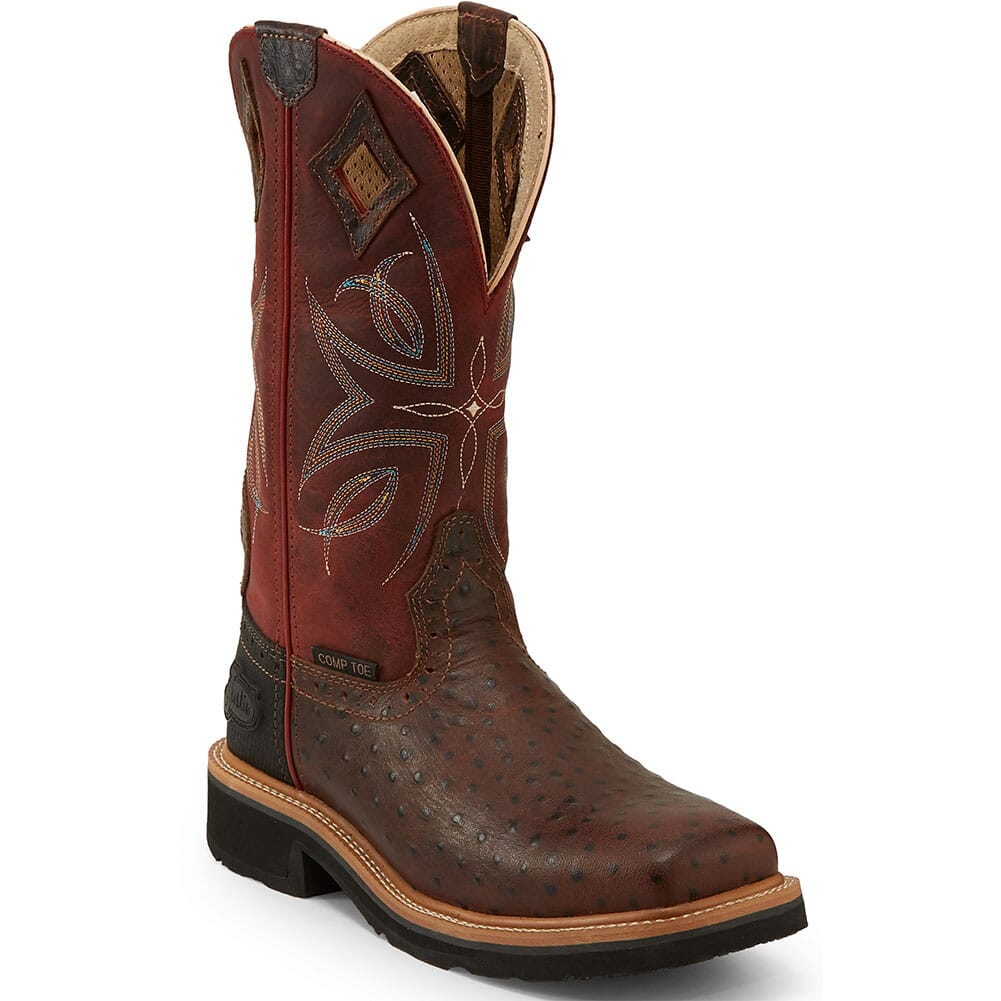 Image for Justin Original Women's Kylee Safety Boots - Burgundy/Rust from bootbay