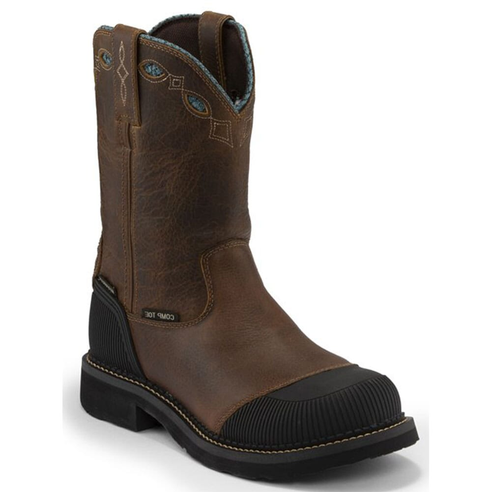 Image for Justin Original Women's Audrey WP Safety Boots - Buffalo/Tan from elliottsboots