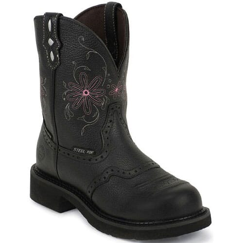 Image for Justin Original Women's Pebble Safety - Black from elliottsboots