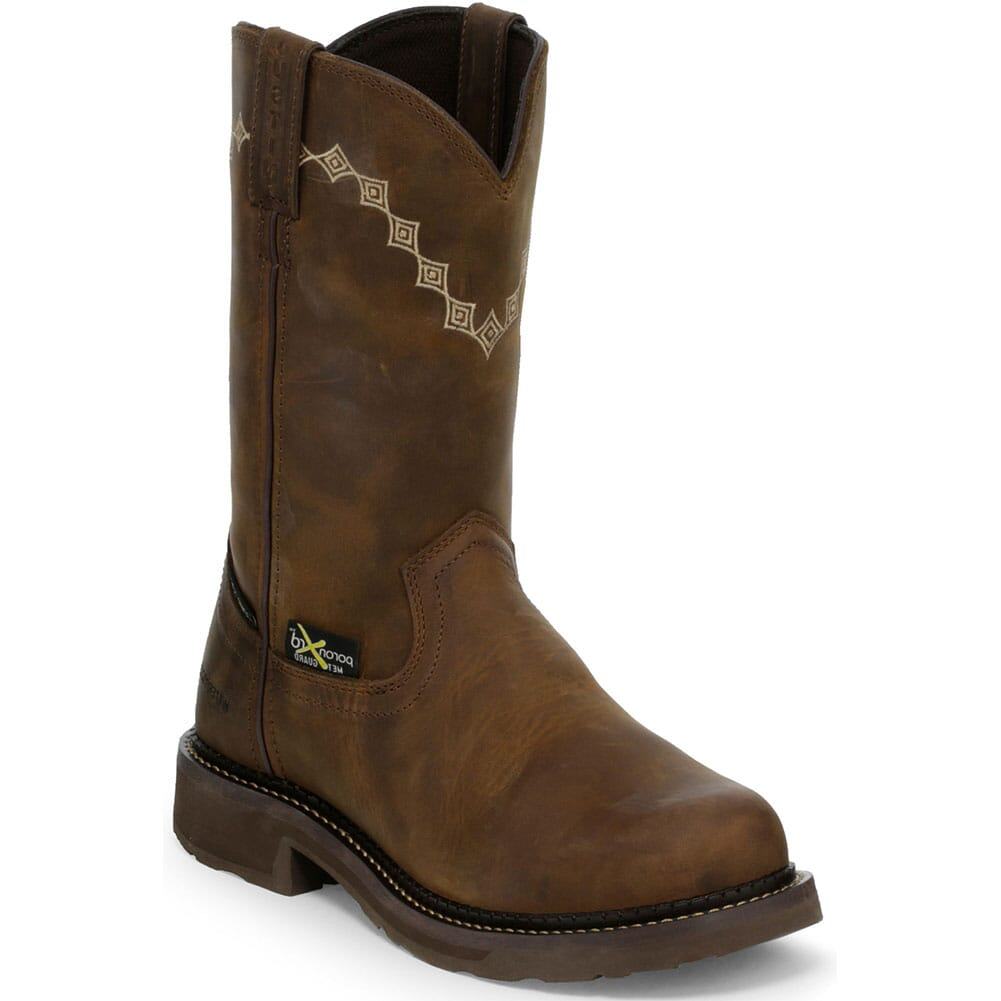 Image for Justin Original Women's Lanie Met Guard Safety Boots - Wyoming Peanut from elliottsboots