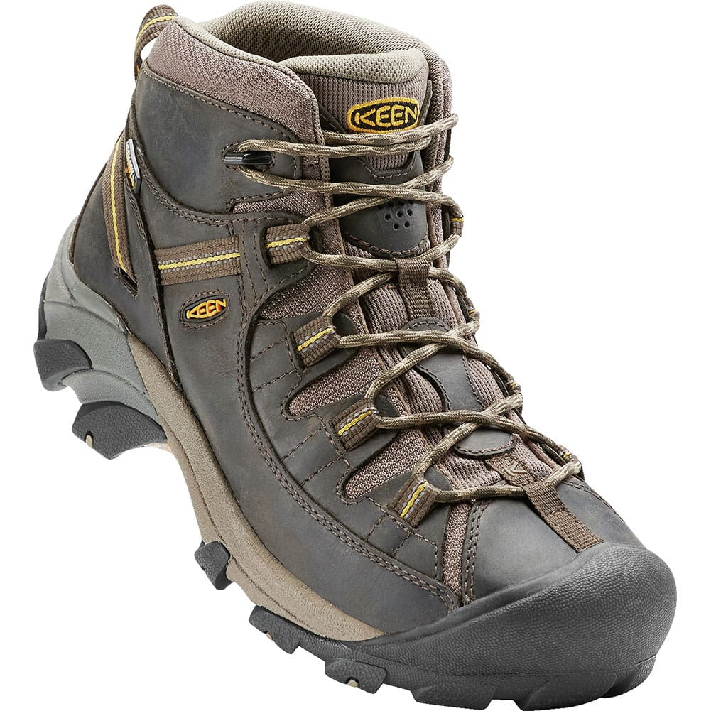 Image for KEEN Men's Targhee II WP Mid Hiking Boots - Black Olive from bootbay