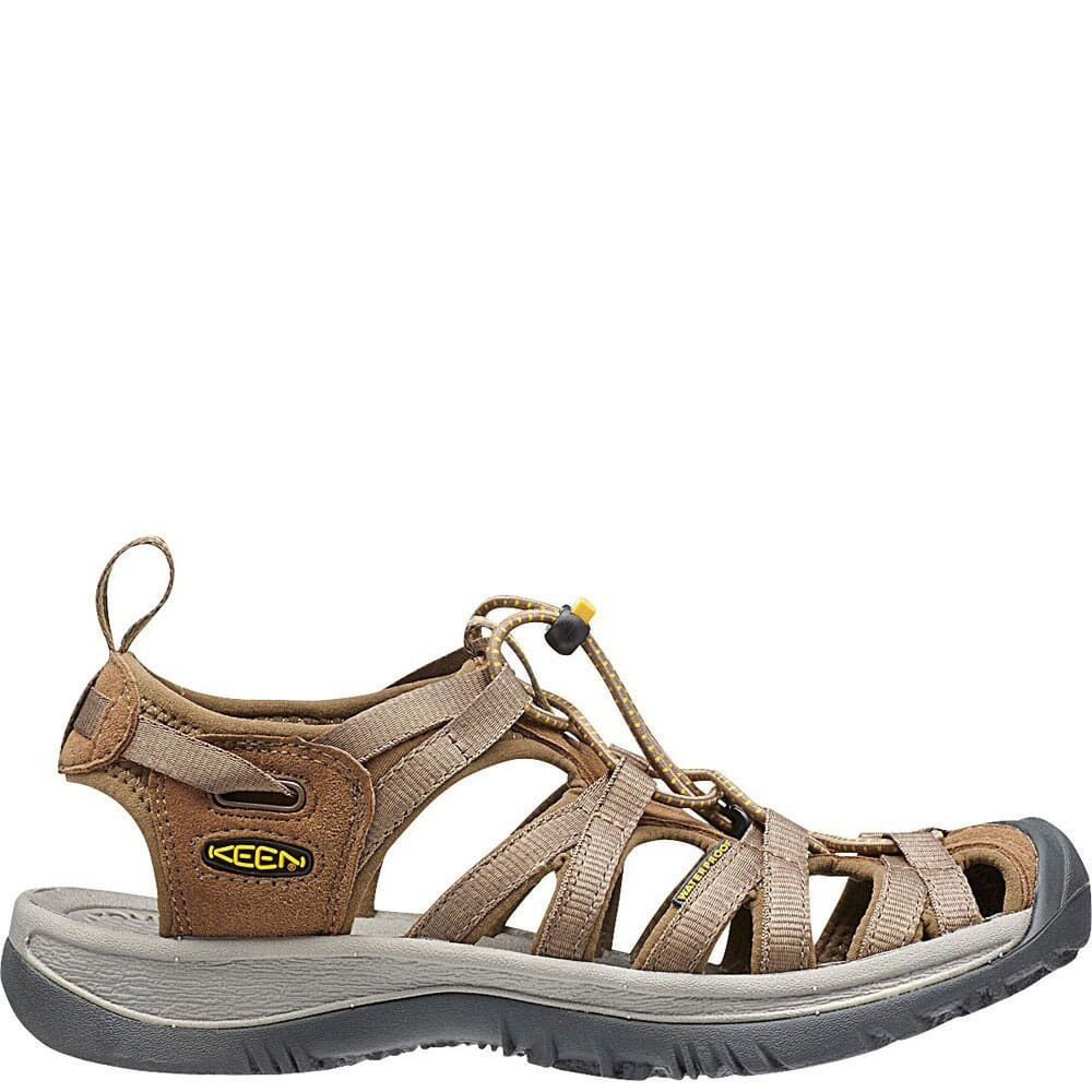 Image for KEEN Women's Whisper Sandals - Coffee/Yellow from bootbay