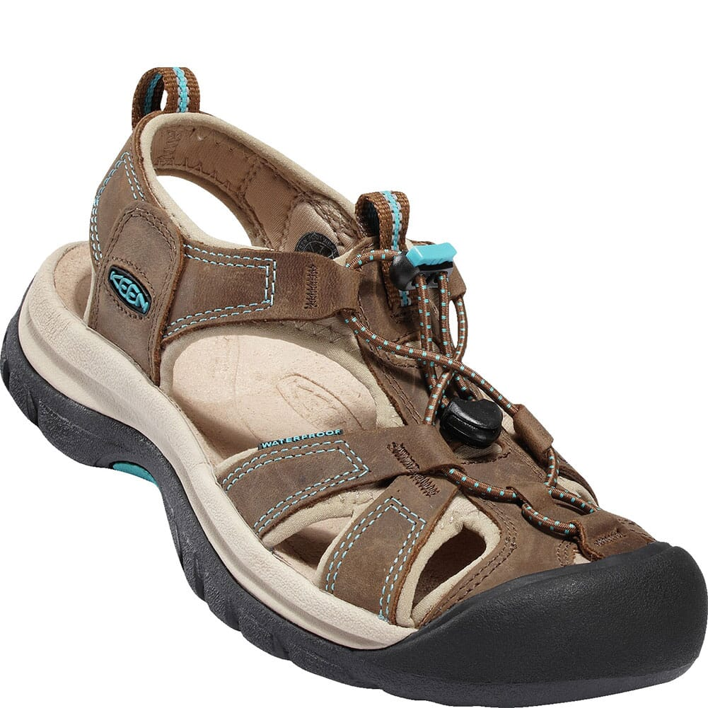 Image for KEEN Women's Venice Sandals - Dark Earth/ Caribbean Sea from elliottsboots