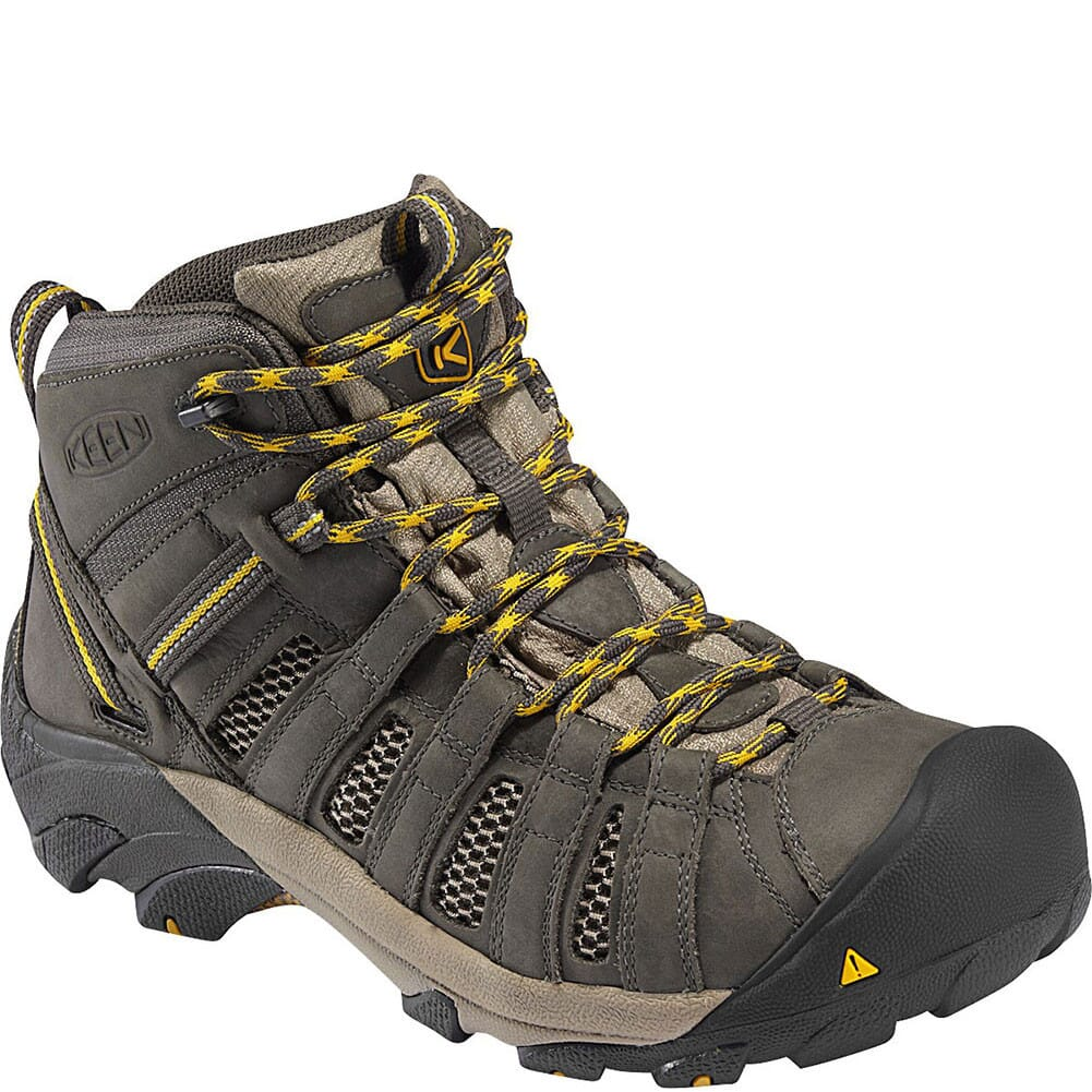 Image for KEEN Men's Voyageur Mid Hiking Boots - Raven/Tawny Olive from bootbay