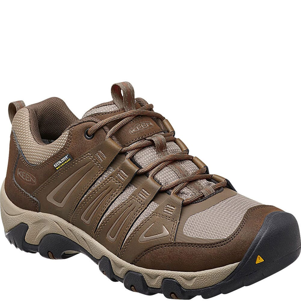 Image for KEEN Men's Oakridge WP Hiking Shoes - Cascade/Brindle from bootbay