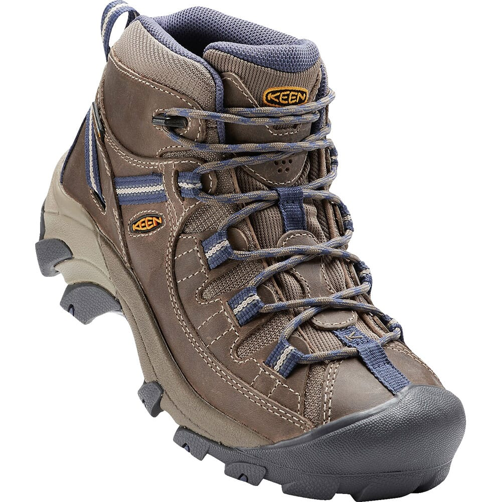 Image for KEEN Women's Targhee II Mid WP Hiking Boots - Goat/Crown Blue from elliottsboots
