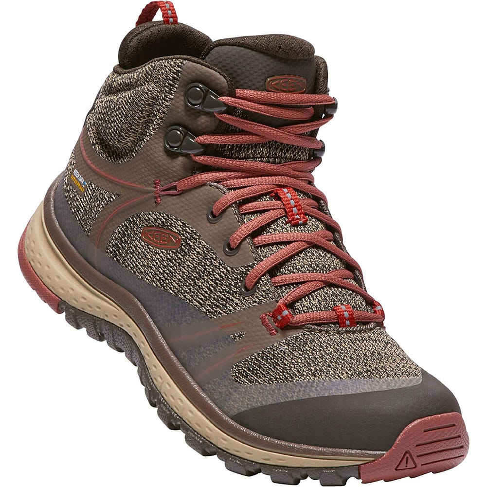 Image for Keen Women's Terradora Mid WP Hiking Shoes - Canteen/Marsala from elliottsboots