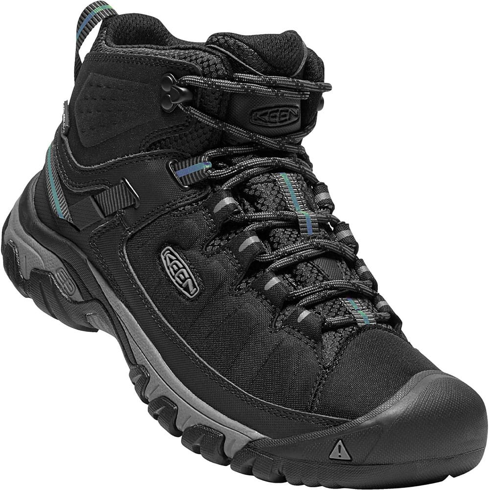Image for KEEN Men's Targhee EXP WP Mid Hiking Boots - Black/Steel Grey from bootbay
