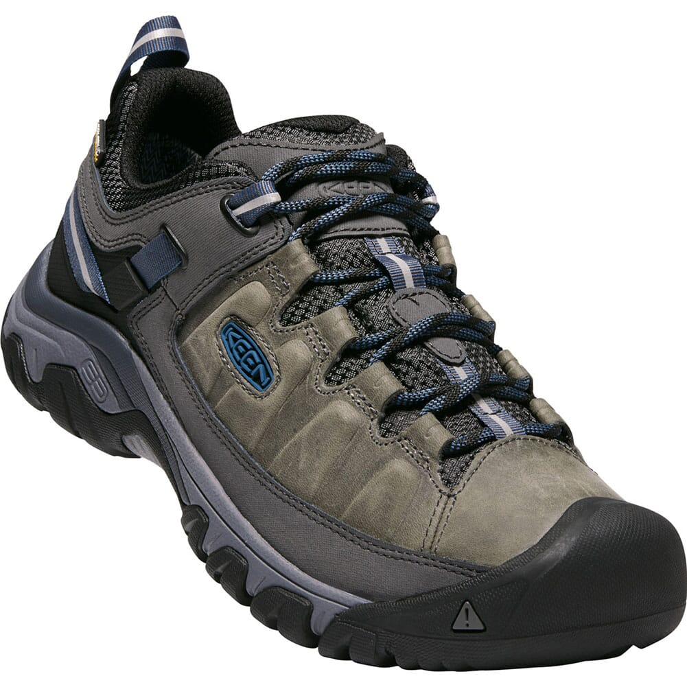 Image for Keen Men's Targhee III WP Hiking Shoes - Steel Grey/Blue from bootbay
