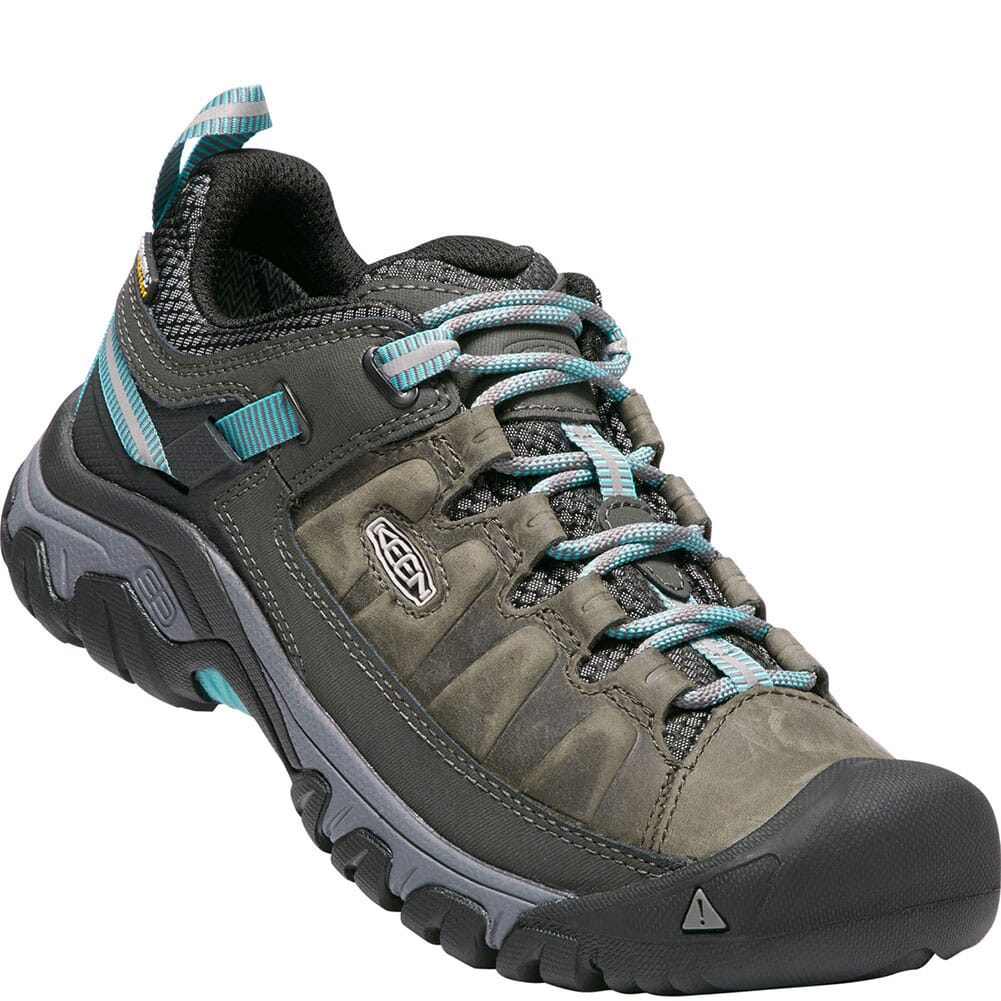 Image for Keen Women's Targhee III WP Hiking Shoes - Alcatraz/Blue Turquoise from bootbay