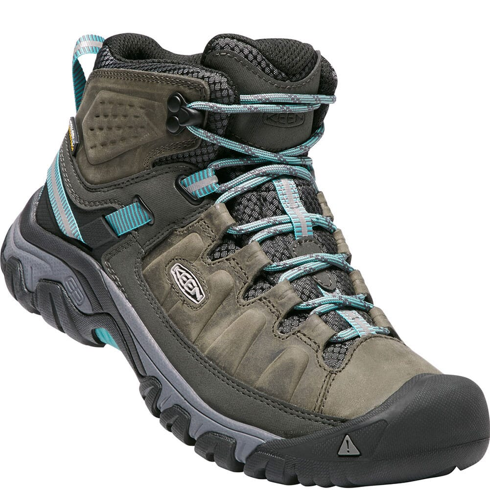 Image for Keen Women's Targhee III Mid WP Hiking Boots - Alcatraz/Blue Turquoise from bootbay